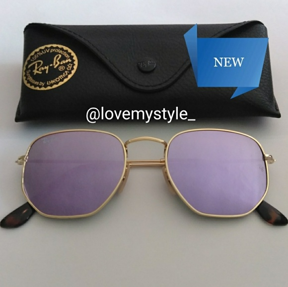 9a38d261aefe Ray-Ban Accessories | Sale120authentic Ray Ban Hexagonal Lilac ...